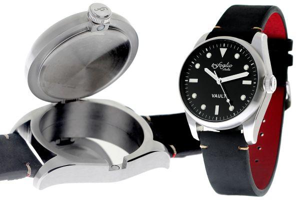 時計内にメモリーカードや小銭などを収納できる!隠し金庫付きのイタリア製腕時計が新発売