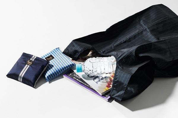 高級傘から生まれた「スーツでもオシャレに持てるエコバッグ」が登場!防撥水加工で、汚れても洗いやすい