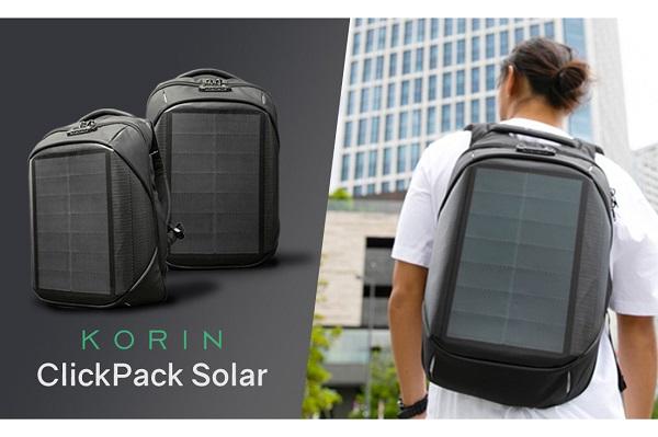 ソーラーパネル搭載の「充電システム付きバックパック」登場!大容量かつ高い防犯性で、災害対策にもおすすめ