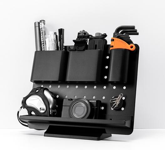 パーツの組み合わせ自由!在宅ワークで使える卓上収納ツール「Storage rack」登場