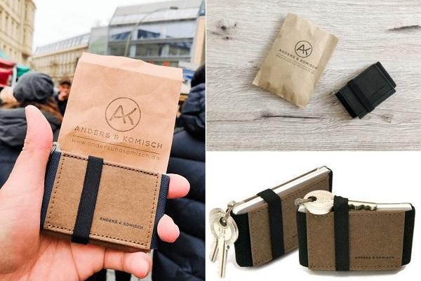 ミニマリストに最適!紙を利用した「ヴィーガンレザーのミニマル財布」が登場、鍵も一緒に収納可能