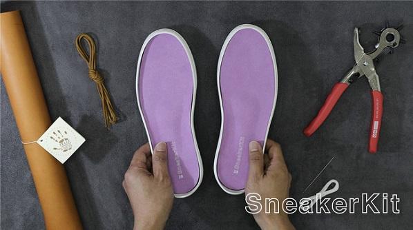 自分だけのオリジナルシューズを製作できる「Sneaker Kit」Makuakeにて先行予約スタート