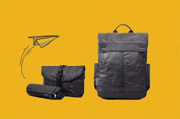 【重さ500グラム】超軽量&スタイリッシュな「紙素材のバックパック」先行販売中、防水&防汚でお手入れも簡単