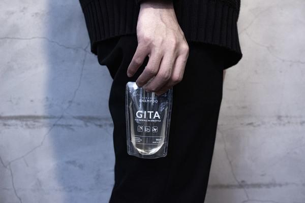 出張や仕事後のスポーツに、全身洗える携帯用シャンプー「GITA」が新発売!