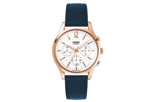 英国の腕時計ブランド「ヘンリーロンドン」TiCTAC限定モデルが発売!ネイビーのベルトでシックな印象に