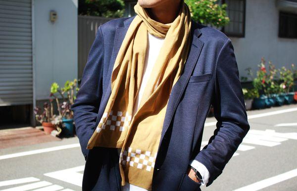 本染め職人が染色!薄くて軽く暖かい「温感手ぬぐいスカーフ」がMakuakeにて先行販売中