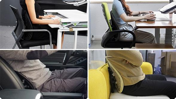 在宅ワーカーの腰痛対策に…本格腰ケア背もたれ「minicute」がMakuakeに登場!
