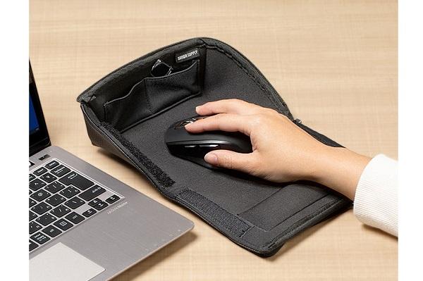 閉じればマウスケース、開けばマウスパッド!テレワークに便利な「2WAYマウス収納ケース」登場