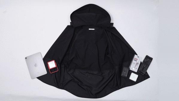 日傘も帽子も、もういらない!大容量の超撥水4WAYシャツ『THE WISDOM 4WAY SHIRT』