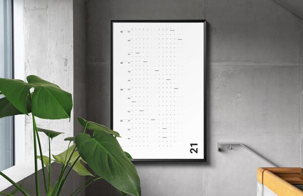 目標達成までの道のりを可視化!365日を1面で管理できる「ミニマリストカレンダー」クラファン実施中