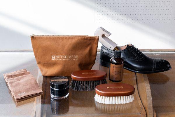 靴磨き初心者にも!「BRITISH MADE」オリジナルのシューケアキット新発売、全5アイテム