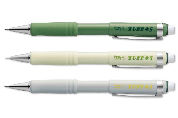 大型消しゴム付き!シャープペン『TUFF』限定デザインが発売、アースカラーの3色展開
