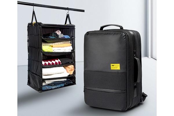 通勤や出張に便利!サブバッグ着脱自在&折りたたみクローゼット内蔵の「3WAYバックパック」登場