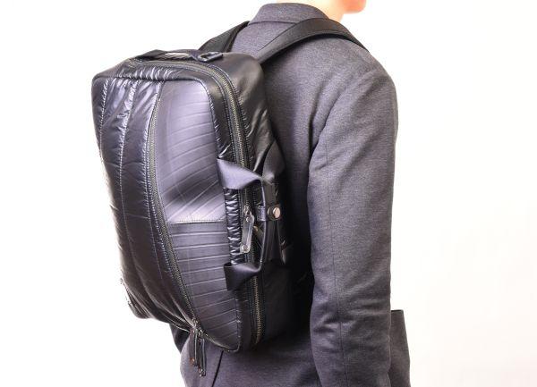 ユニークで機能的!廃タイヤを再利用したバッグブランド「SEAL」3wayビジネスバッグを発売