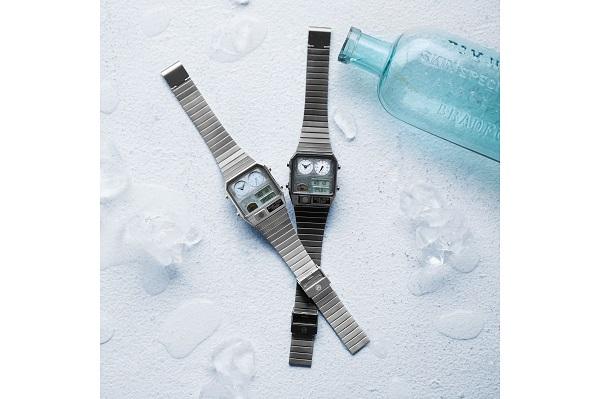 これからの季節にぴったり!レトロなムード漂う人気モデルより、涼しげな「スケルトン時計」登場