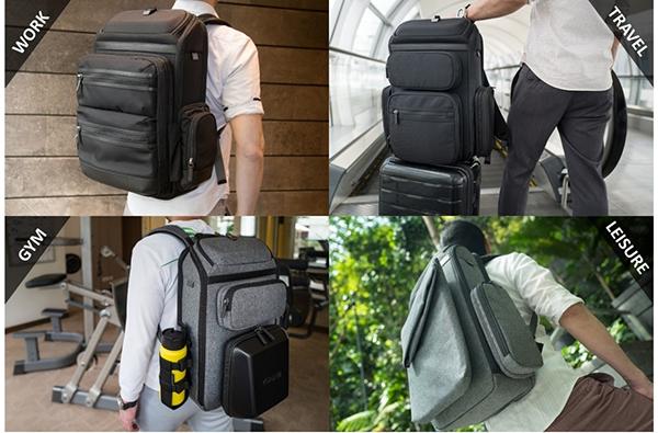 忙しいビジネスマンに!カスタマイズ可能なバックパック「22sevenBackpack」先行販売中