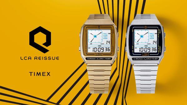 80年代のデジアナ復刻モデルが登場!『Q TIMEX Reissue Digital LCA』一般販売スタート