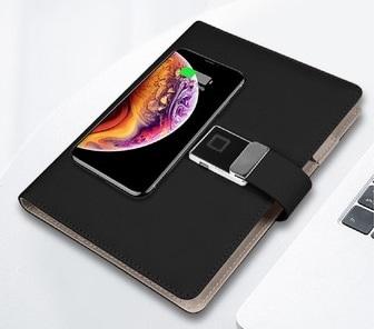 スマホ充電ができるシステム手帳、Makuakeに登場!指紋認証機能付きで、テレワークも安心